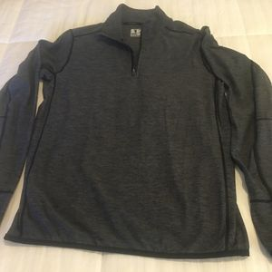 New Balance men's gray 1/4 zip pullover